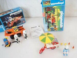 Lot 2 Vintage Playmobil Kit's 3848 9770 Space Series Transporter Hot Dog Stand