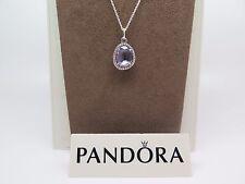 New w/Box Pandora Glamorous Legacy Amethyst Pendant w/ Pandora Chain 390353am
