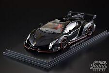 [KYOSHO ORIGINAL 1/43] Lamborghini Veneno Black/Red Line Black KS05571BKR