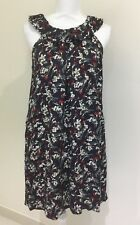 Piper Ladies Pretty Tunic Dress Navy Floral Size 8