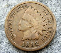 UNITED STATES 1892 CENT INDIAN HEAD