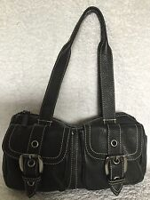 COUNTRY ROAD Black Leather Tote/Shoulder Bag / Handbag