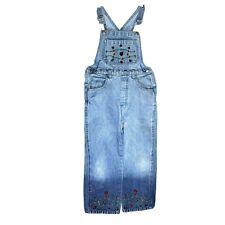 Girls Denim Overalls Size 6X Hombre Blue Denim Embroidered Ladybugs 100% Cotton