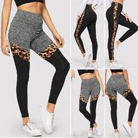 Women's Leopard Sports YOGA Workout Gym Fitness Leggings Pants Athletic Clothes