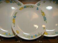 SET OF 3 - CORNING CORELLE - FLIRTATION - LUNCHEON & DINNER PLATES