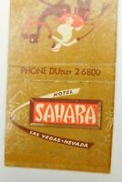 Hotel Sahara Las Vegas Nevada The Congo Room Vintage Matchbook Cover
