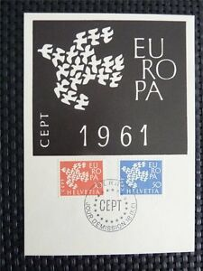 SCHWEIZ MK 1961 EUROPA CEPT TAUBE PIGEON MAXIMUMKARTE MAXIMUM CARD MC CM c4608