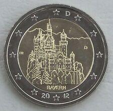 2 Euro Germania D 2012 neuschwans TEIN/Baviera unz