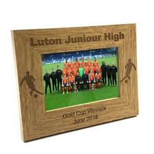 Football Team Award Gift Personalised Engraved Wooden Photo Frame FW223