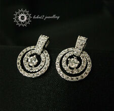Simulated Diamond/Multiple rings/Circles Earring/Clear crystal/RGE383