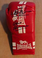 A boxing glove genuine signed by Wladimir + Vitali Klitschko