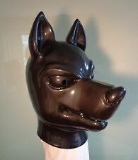 WITH  ZIP  Dog mask  Heavy RUBBER latex studio mask gum , rare