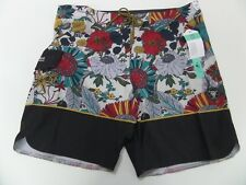 Vissla Mens Garden City Floral Stretch Board Shorts Black 38 NWT