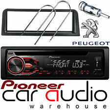 Peugeot 106 Pioneer Cd Mp3 Usb Aux In Auto estéreo reproductor de Radio & Completo Kit De Montaje