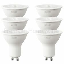 6 x IKEA RYET GU10 200lm 3W LED Light Bulbs (2700K Warm White)