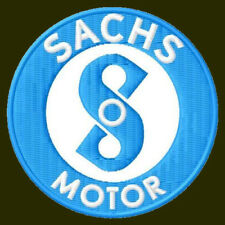 "SACHS MOTOR EMBROIDERED PATCH~2-3/4"" MOTORCYCLE RICAMATO BORDADO PARCHE AUFNÄHER"
