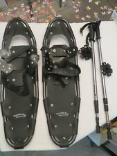 "Thunder Bay Adult Snow Shoes with Carry Bag & Adj. Anti-Shock Poles 8x28"" NWOT"