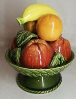 Corbeille de fruits en céramique, Vintage, Décoration H 21 Cm Banane, pomme....