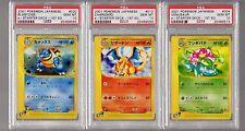 2001 E Starter 4 Venusaur 12 Charizard 20 Blastoise 1st PSA 10 Pokemon Japanese