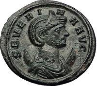 SEVERINA 274AD Rome Concordia Authentic Ancient Roman Coin Aurelian Wife i59173