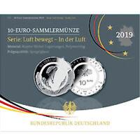 Deutschland 10 Euro Gedenkmünze 2019 SP PP Luft bewegt Polymerring Spiegelglanz