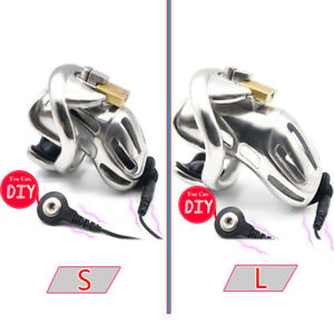 New Design 316 Stainless Steel DIY Whole Electric Male Chastity Device A370-SS-1