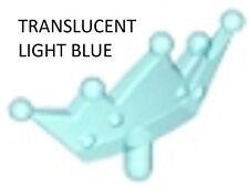 Lego Tiara x 1 Translucent Light Blue for Minifigure Hair