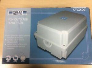 IP54 Weatherproof Outdoor Electric Socket Box Garden Power Christmas Lights