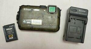Nikon Coolpix AW100 16.0 MP Digital Camera Waterproof/Shockproof - Camo