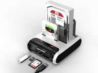 Wavlink USB 3.0 to SATA 2X10TB Hard Drive Docking Station for Offline Clone&UASP