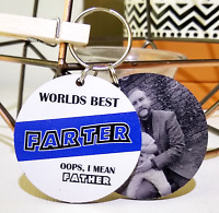 PERSONALISED CHRISTMAS DAD GIFTs FUNNY KEYRING DADDY GRANDAD UNCLE FATHERS DAY