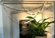 Afroart modern handmade cream circle dot paper garland 4m, Christmas / party