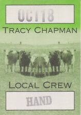 """TRACY CHAPMAN 1996 """"NEW BEGINNING"""" TOUR STICK-ON LOCAL CREW BACKSTAGE PASS"""