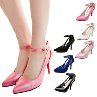 hana ladies high heels pointed toe Vintage Womens Prom Pumps large Size shoes