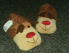 Ladies size L (approx 7) Reindeer xmas Christmas cosy slippers 'New Look' bnwt