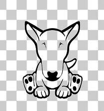 English British Bull Terrier Dog Fun Novelty Car Van Bumper Window Decal Sticker