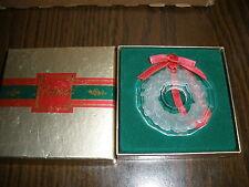 Lenox Crystal - Crystal Wreath Ornament In Box
