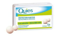 QUIES ear plugs natural wax Hearing Protection 27 dB 12 pairs