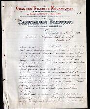 """ROANNE / MABLY (42) TUILERIE / PRODUITS CERAMIQUES """"François CANCALON"""" en 1909"""