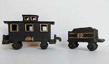 Vintage Cast Iron Train Cars Decorative Toy