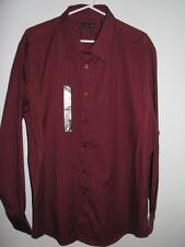 NWT STRUCTURE MEN'S LONG SLEEVE BUTTON FRONT SHIRT XL 46-48