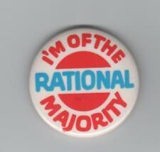 I'M OF THE RATIONAL MAJORITY-1981 Anti Moral Majority pinback by Karl Bernhardt