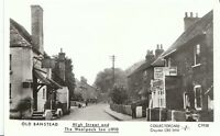 Surrey Postcard - Old Banstead - High Street and The Woolpack Inn c1910 - U578