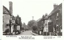 Surrey Postcard - Old Banstead - High Street and The Woolpack Inn c1910 U578