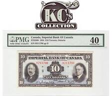 "1934 Imperial Bank of Canada ""Toronto"" $10 PMG EF40"