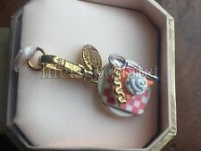 RARE!! BRAND NEW JUICY COUTURE PUMPKIN PIE W/SPOON BRACELET CHARM IN TAGGED BOX