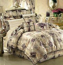 6 CROSCILL CHAMBORD CASSIS QUEEN COMFORTER w/ 2 SHAMS & 3 MATCHING THROW PILLOWS
