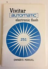 Vintage 1964 Vivitar Automatic Electronic Flash 251 Owner's Manual Camera Photos