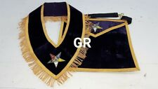 O.E.S  SET  WORTHY COLLAR SET MATRON PATRON  O.E.S  HAND-EMBROIDERED