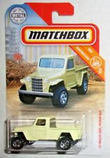Matchbox '51 Willys Jeep Pickup 4x4 #031 MBX Construction #15 of #20 Yellow HTF!